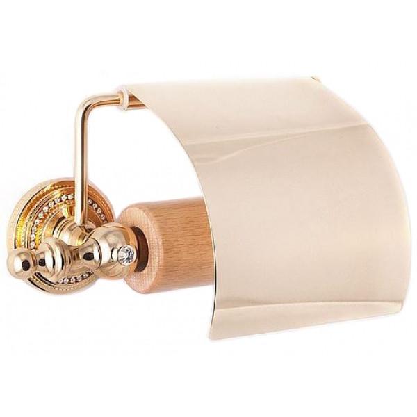 Держатель туалетной бумаги Cristall Quatro Cameya G1402, золото