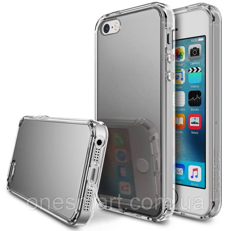 Чехол на Apple iPhone SE, 5S, 5, Ringke серия Fusion Mirror, цвет Silver