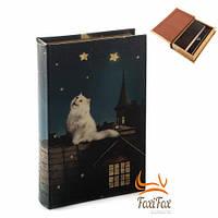 Книга сейф шкатулка Кот на крыше