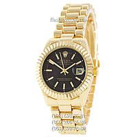 Женские наручные часы Rolex Datejust Quartz Gold/Black