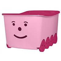 Ящик для хранения игрушек Тega BQ-005 розовый