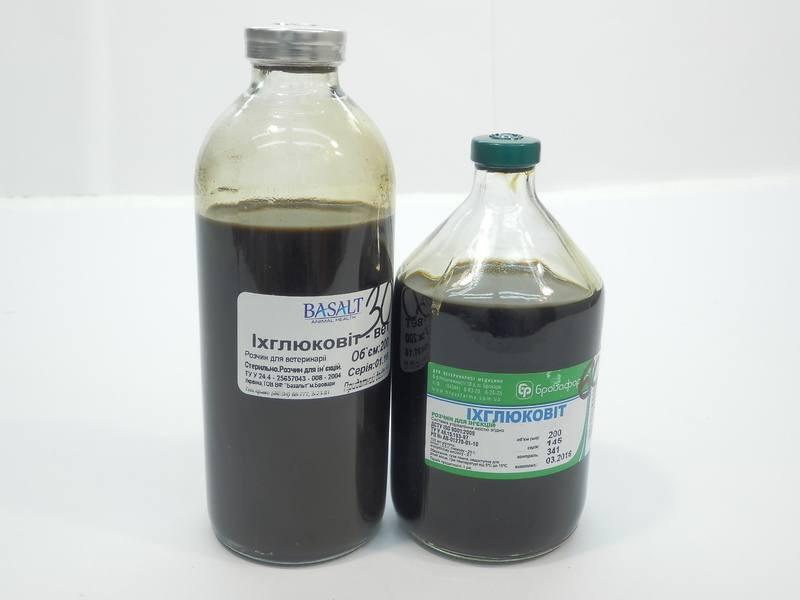 Ихглюковит-вет 200 мл (Базальт) комплексный противовоспалительный и антисептический препарат