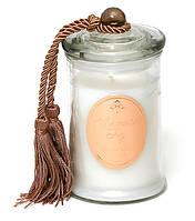 Арома свеча в стекле с крышкой и кисточкой (266г), аромат: ваниль