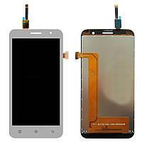 Дисплей (LCD) Lenovo A806 A8 Octa/ A808 с сенсором белый