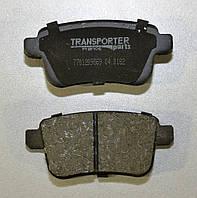 Дисковые тормозные колодки задние на Renault Kangoo II 2008-> Transporterparts (Франция) 04.0182