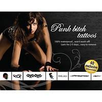 Эротический набор временных татуировок Tattoo Set Punk Bitch