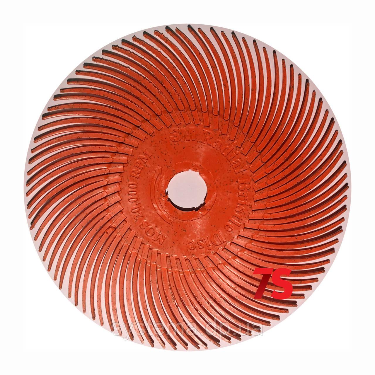 3M 30128 Scotch-Brite™ Bristle RB-ZB - Радиальная щетка 76х9 мм, P220, красная