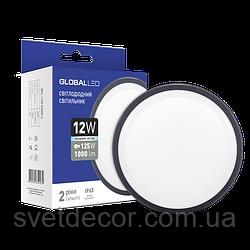Светодиодный светильник для подъезда и других помещений ЖКХ Global LED 12W IP65 5000K (1-HRL-003-C)