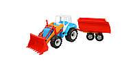Детский трактор Скрепер Тигр с прицепом Орион (242)