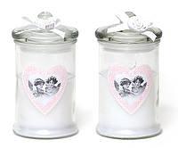 Арома свеча в стекле с крышкой(195г), аромат: розовая вода, 2 вида