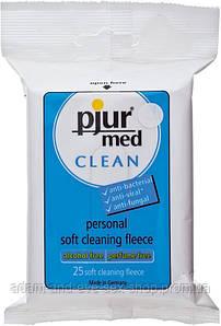 Влажные салфетки pjur med CLEAN 25 шт для интимной гигиены