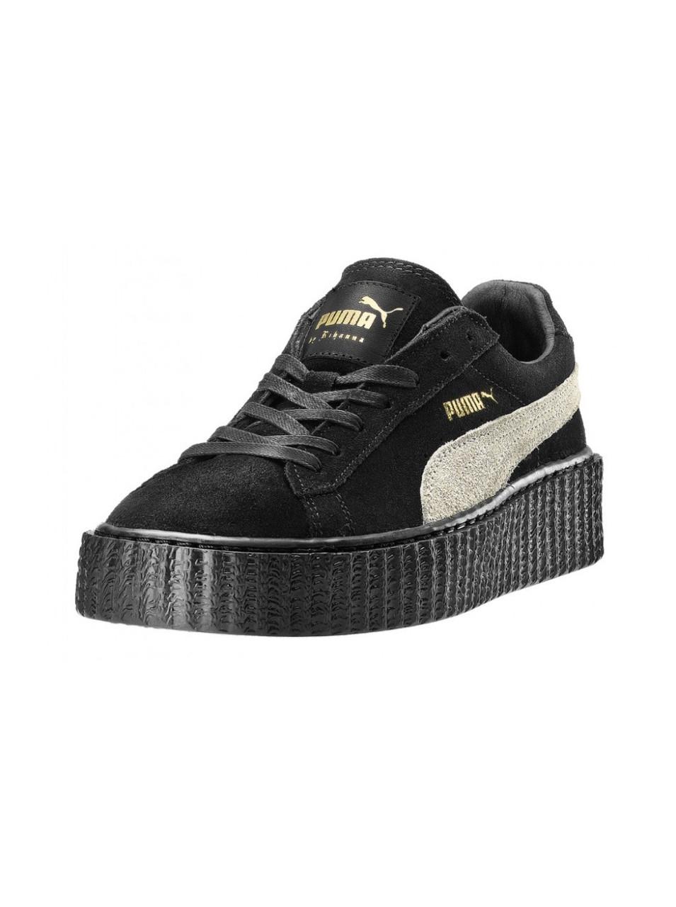 Кеды Puma Creeper Rihanna Black White Черные женские реплика -  Интернет-магазин спортивной обуви в 211c614c156e3