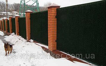Зелений паркан з основою із металевої рами та оцинкованої сітки рабиця