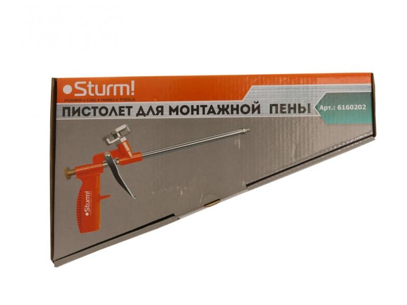 Пистолет для монтажной пены пластиковая рукоятка Sturm 6160202