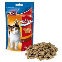 Лакомство для кошек Crispies для выведения шерсти 4262 Трикси 50 г