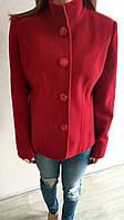 Женское пальто-пиджак шерстяной, красный пиджак женский шерсть