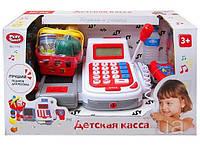 Аппарат кассовый детский музыкальный с микрофоном и продуктами