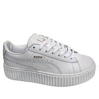 Кеды Puma Creeper Rihanna White Белые женские реплика
