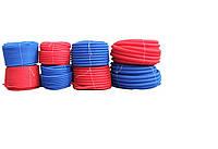 Защитная гофротруба d16 красная/синяя
