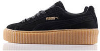 Кеды Puma Creeper Rihanna Black Brown (Черные)