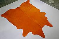 Шкура коровы однотонная оранжевая, фото 1