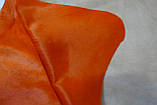 Шкура корови однотонна помаранчева, фото 3