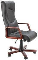 Кожаное кресло Геркулес Экстра кожа сплит чёрная