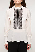 """Молочная блуза """"JILL"""" с кружевом"""