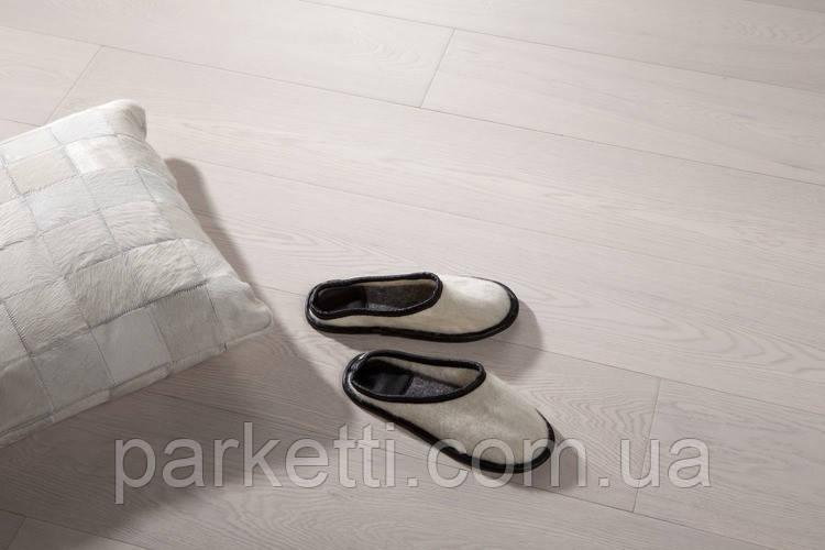 Паркетная доска Prima floor  3-х полосная, дуб ледяной, лак