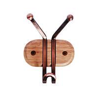 Крючок тройной Besser 10см на деревянной планке