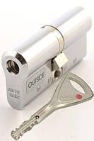 Цилиндр замка Abloy Protec 2 Hard  128мм (62Hx66) матовый xром  ключ-ключ