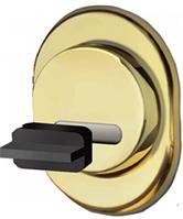 Защитная броненакладка для сувальдных замков врезная (золото) MR-02 DiSec