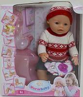 Пупс кукла Warm Baby Бейби Борн 8006 М (Зима)