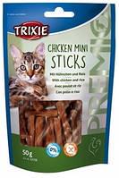 Лакомство для кошек Premio Mini Sticks курица и рис 42708 Трикси 50 г