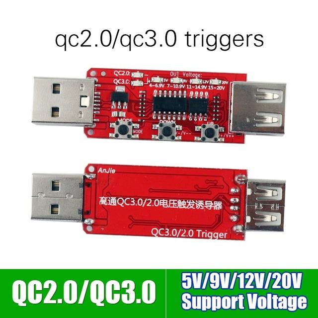 Триггер - переключатель QC2.0 и QC3.0 5V, 9V, 12V и 20V