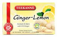 "Чай в пакетиках Teekanne ""Ginger Lemon"" 20шт 35г Имбирь с лимоном"