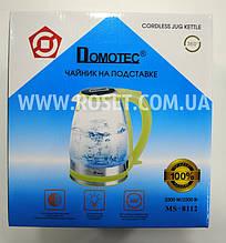 Електричний чайник - Domotec MS 8112 2200W Зелений (поворот на 360 градусів)