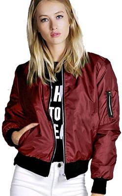 Куртка Ветровка женская (бордовая)