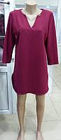 Женское бордовое платье  свободного кроя размер Л(46)