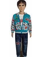 Костюм-тройка  с джинсовыми штанами