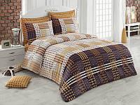 Двуспальное турецкое постельное бельё Cameron v1Kahve Majoli B08