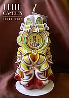 Церковная свеча на подарок, резная ручной работы