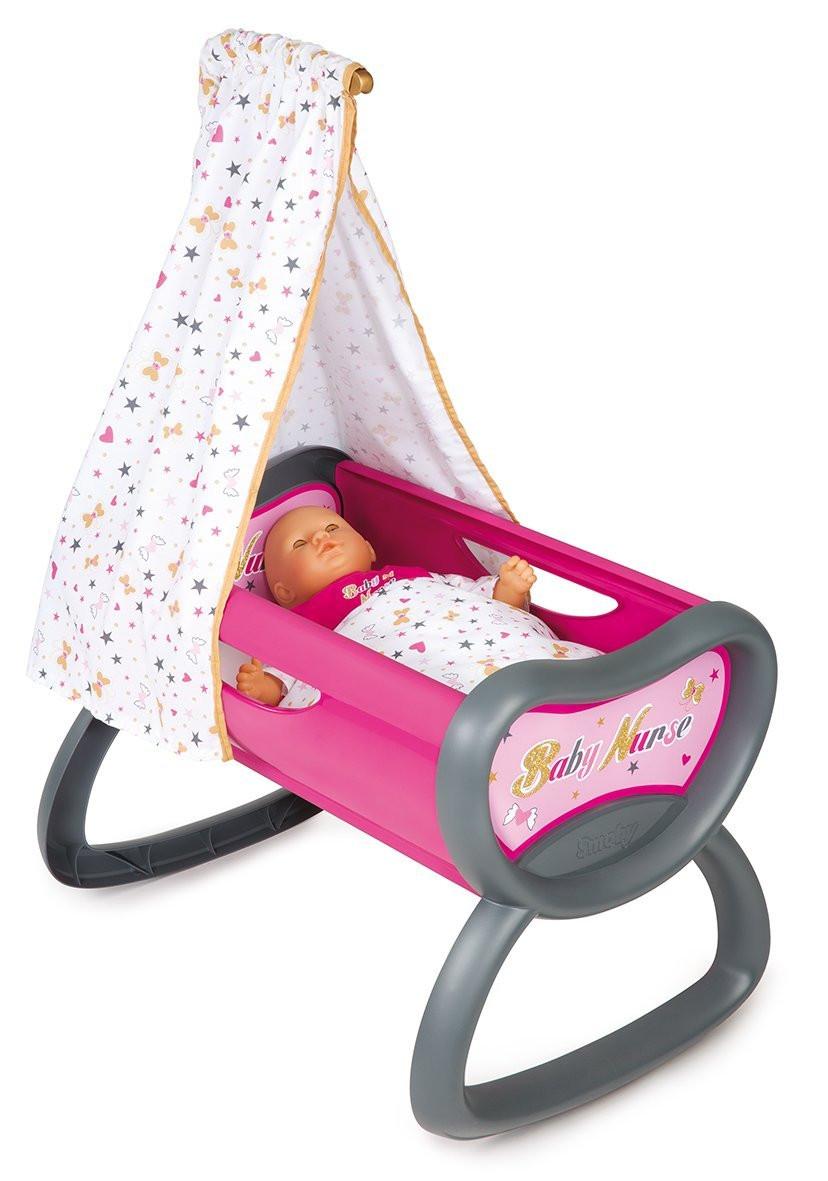 Кроватка колыбель для куклы Смоби Baby Nurse Gold Edition Smoby 220311