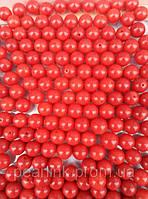 Шарики коралл  Ювелирные вставки, Коралл, 8мм, Красный
