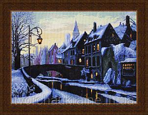 Набор для вышивания нитками Вечерний город