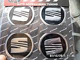 Наклейка эмблема СИАТ на колесный диск / колпак d 60 мм , фото 2