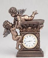 """Часы """"Играющие ангелочки"""" с бронзовым покрытием (17 см)"""