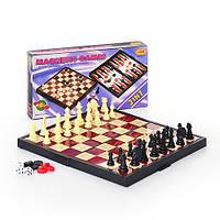 Шахматы 9831 (48шт) 3 в 1 25-13,2-3,5см