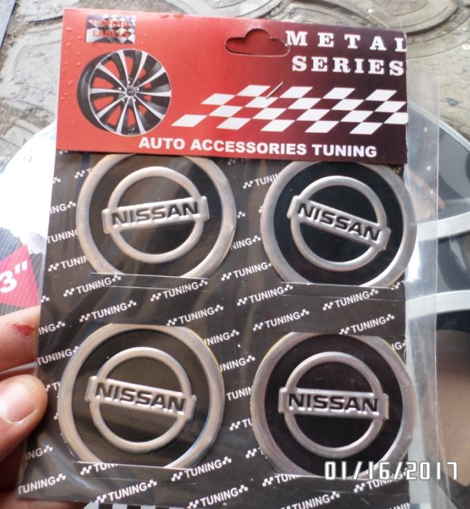 Наклейка эмблема NISSAN на колесный диск / колпак d 60 мм
