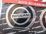 Наклейка эмблема NISSAN на колесный диск / колпак d 60 мм , фото 2